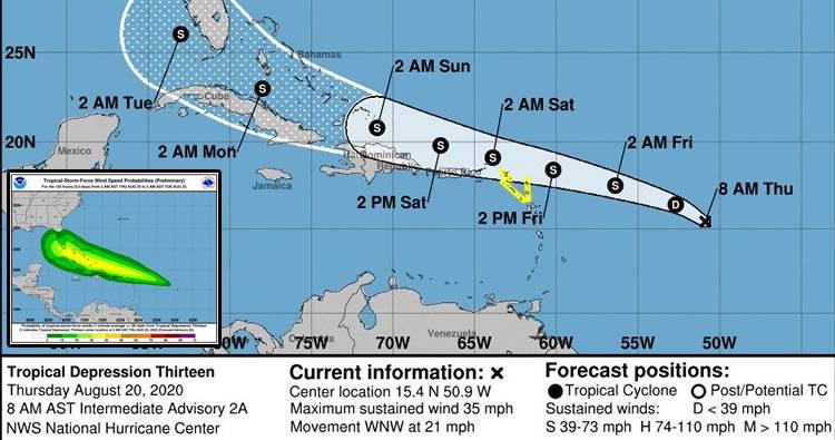 Dos ondas tropicales podrían convertirse en ciclones en el Caribe