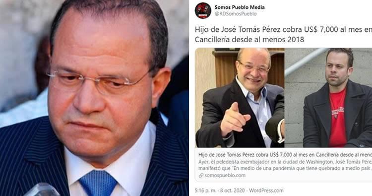 Luis Abinader destituye a José Tomás Pérez