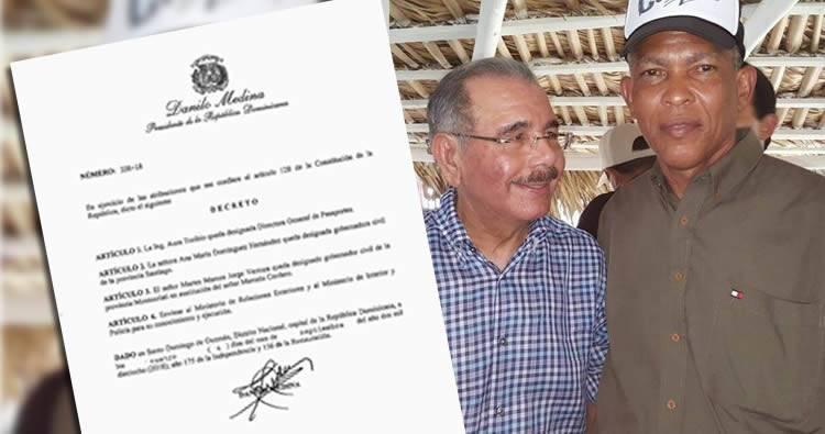 Destituyen gobernador de Montecristi Marcelo Cordero acusado de robo de combustible
