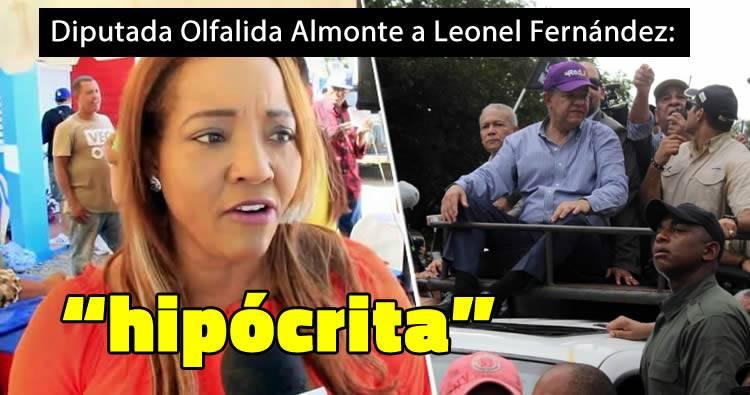 """Diputada del PLD llama """"hipócrita"""" a Leonel Fernández por protesta en el Congreso"""