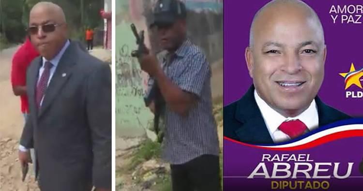 Video: Diputado Rafael Abreu amenaza ciudadano con una pistola por unos terrenos