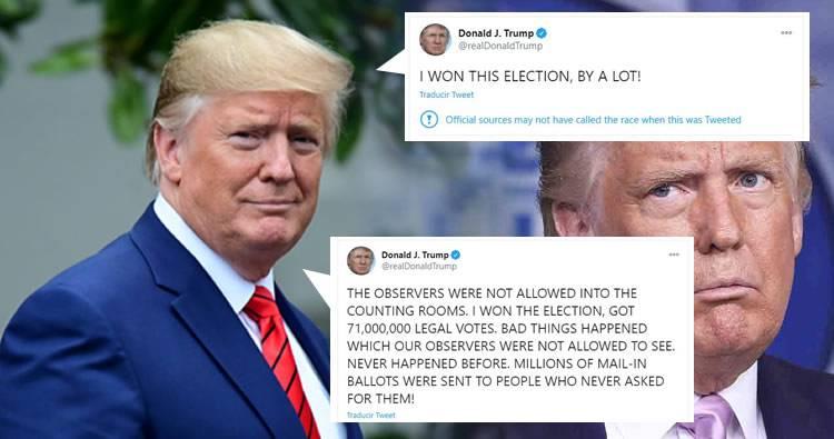 Donald Trump insiste en que ganó las elecciones tras confirmarse su derrota