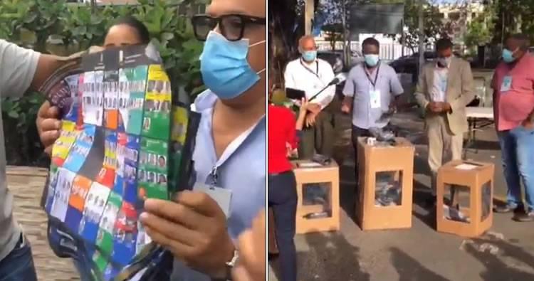 Encuentran urnas con boletas firmadas y selladas abandonadas en patio de la Junta Electoral