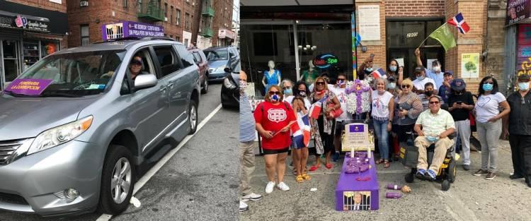 Video: Dominicanos en NY Efectúan caravana simbolizando entierro del PLD
