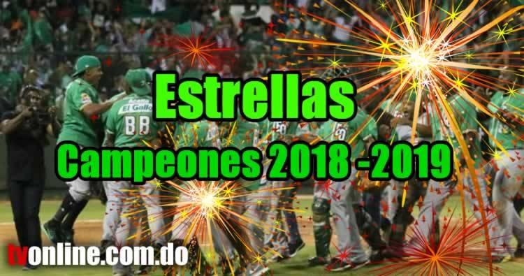 Estrellas blanquean a Los Toros y se coronan campeones 2018-2019