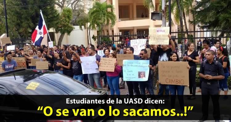 Estudiantes de la UASD se unen a protestas por 'intento fraude electoral'