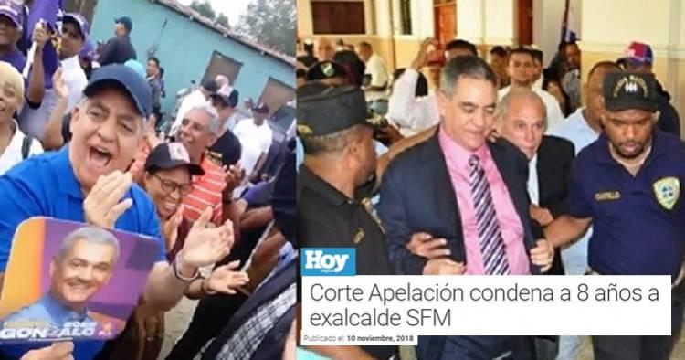 Exalcalde Félix Rodríguez Grullón condenado a 8 años de prisión por desfalco le hace campaña a Gonzalo Castillo