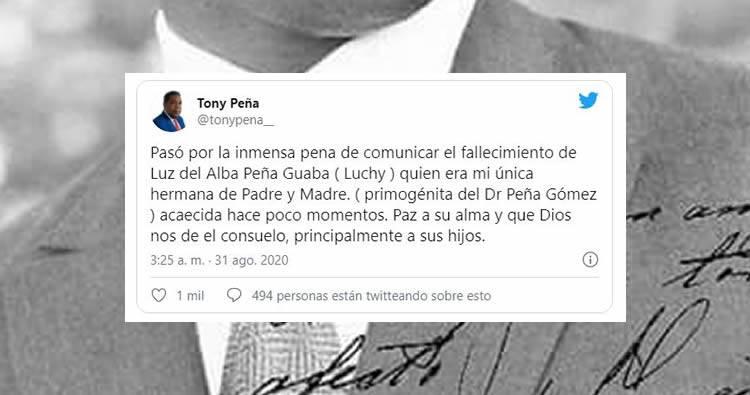 Fallece hija mayor de José Francisco Peña Gómez