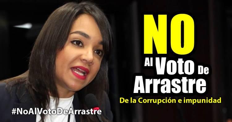 Faride Raful dice No Al Voto De Arrastre #NoAlVotoDeArrastre