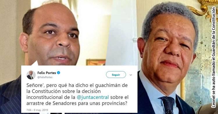 Abogado Felix Portes pregunta que ha dicho el guardián de la Constitución