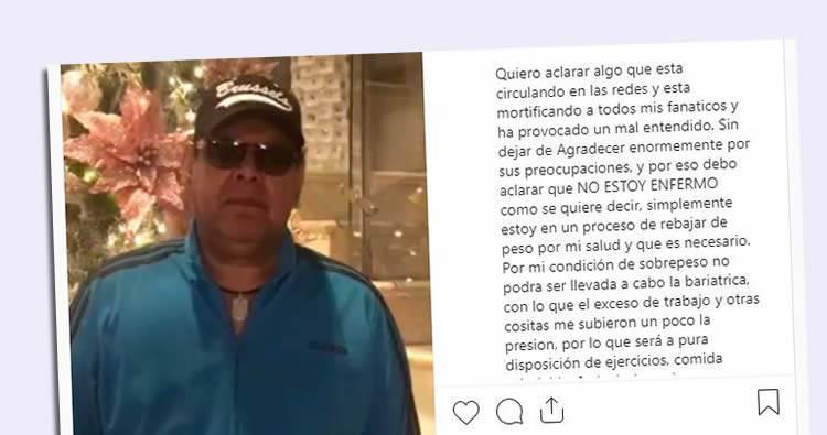 Fernando Villalona aclara no está enfermo