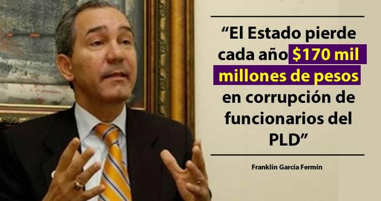 El Estado pierde cada año 170 mil millones de pesos en corrupción de funcionarios del PLD