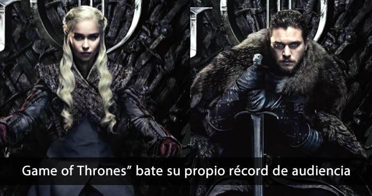 """""""Game of Thrones"""" bate su propio récord de audiencia"""