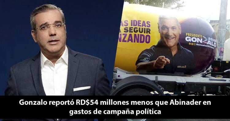 Gonzalo Castillo reportó menos dinero que Abinader en gastos de campaña política