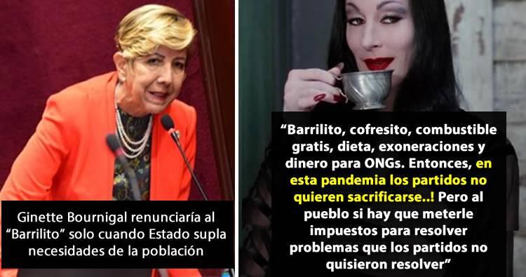 Ginette Bournigal renunciaría al «Barrilito» solo cuando Estado supla necesidades de la población