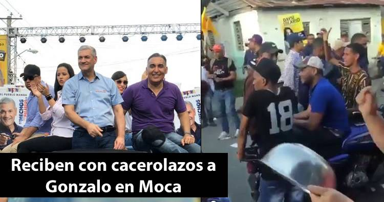 Video: Reciben con cacerolazos a Gonzalo Castillo durante caravana en Moca