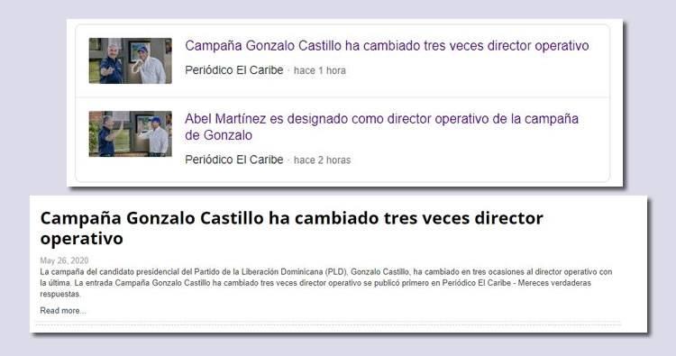 Campaña Gonzalo Castillo ha cambiado tres veces director operativo