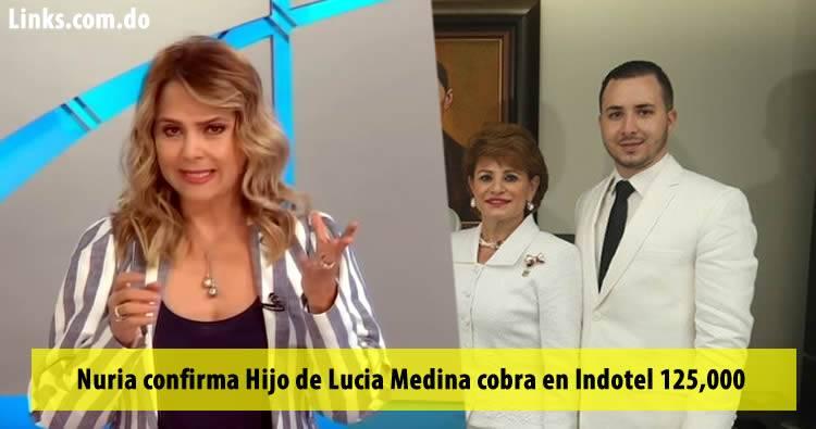 Nuria confirma Hijo de Lucia Medina cobra en Indotel 125,000