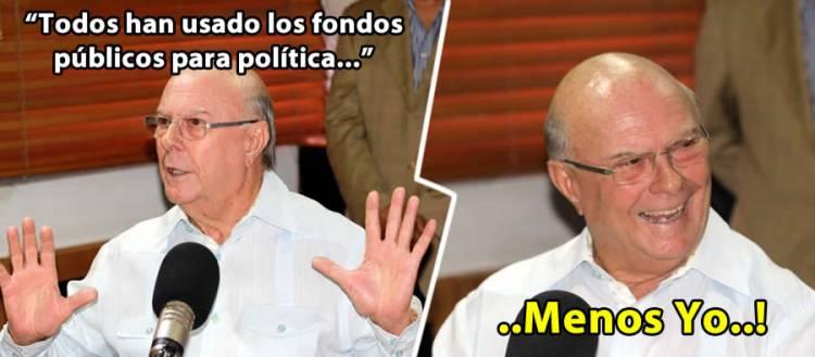 Hipólito Mejía dice que todos han usado fondos públicos para hacer política, menos Él