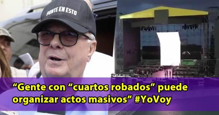 Hipólito Mejía sobre la actividad de Leonel: 'Con  cuartos robados'
