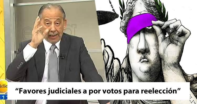 Huchi Lora: 'Estarían Intercambiando favores judiciales a cambio de voto para reelección'