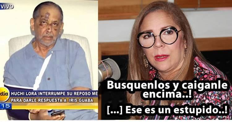 Huchi Lora responde a Iris Guaba desde su casa