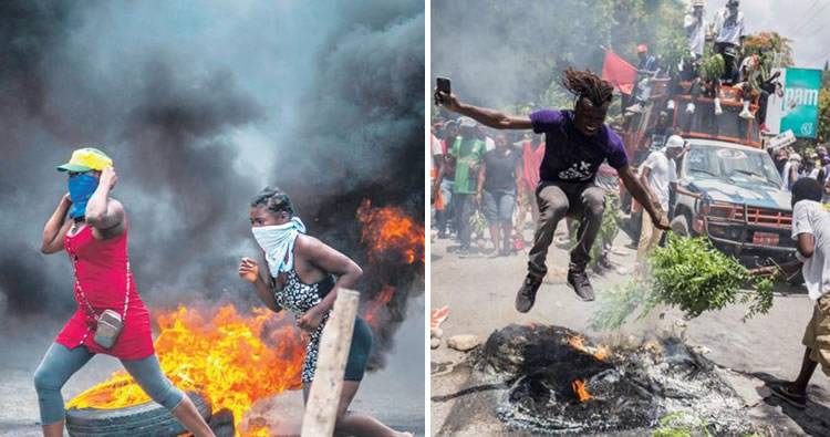 Huelga paraliza la capital de Haiti y piden salida de Moise
