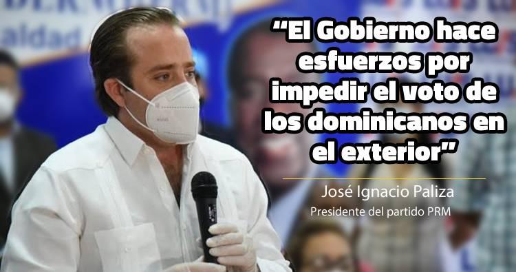 José Paliza acusa al Gobierno de querer impedir voto de dominicanos en exterior