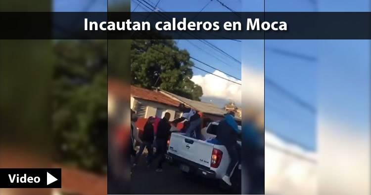 Video: Incautan calderos a jovenes que recibieron a Gonzalo Castillo a cacerolazos en Moca