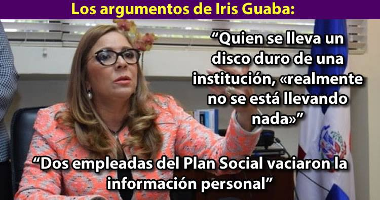 Video: Iris Guaba dice que dos empleadas del Plan Social vaciaron la información personal