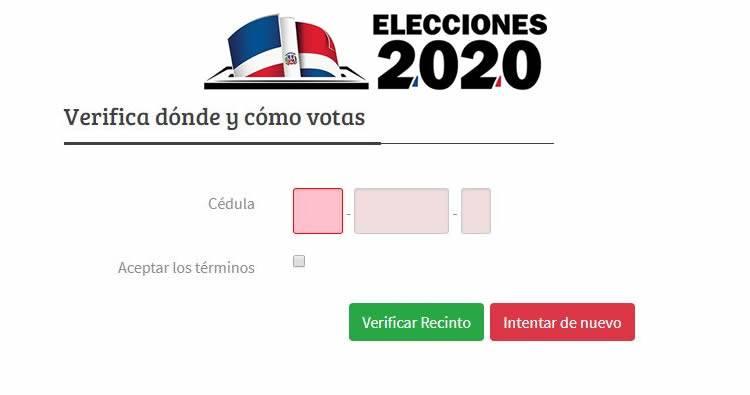 Verificar donde te toca votar y cómo votas automático o manual