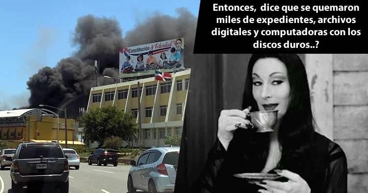 Incendio en la Junta Central Electoral afectó decenas de documentos y computadoras