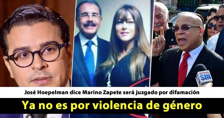 José Hoepelman dice Marino Zapete será juzgado por difamación