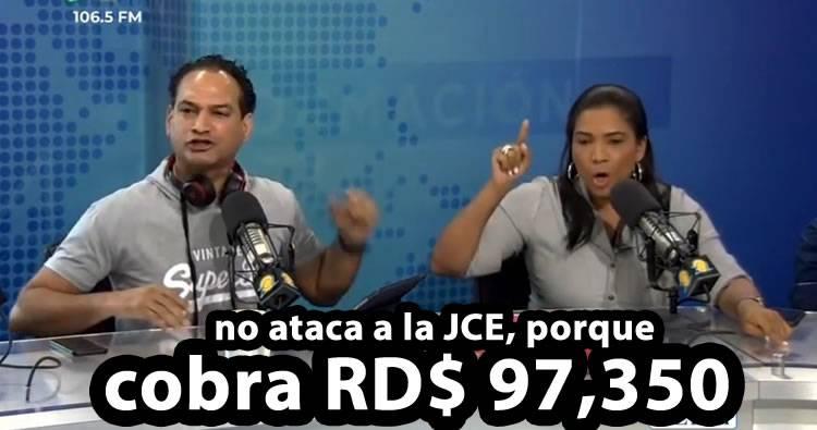 José Laluz asegura que Anibelca Rosario no ataca a la JCE porque cobra RD$97,350