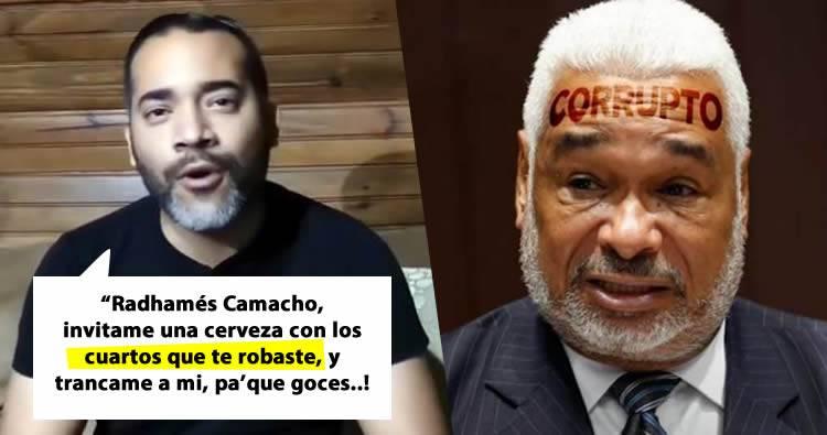 """José Martínez Brito arremete contra Radhamés Camacho por apresar a joven que le dijo """"corrupto"""""""