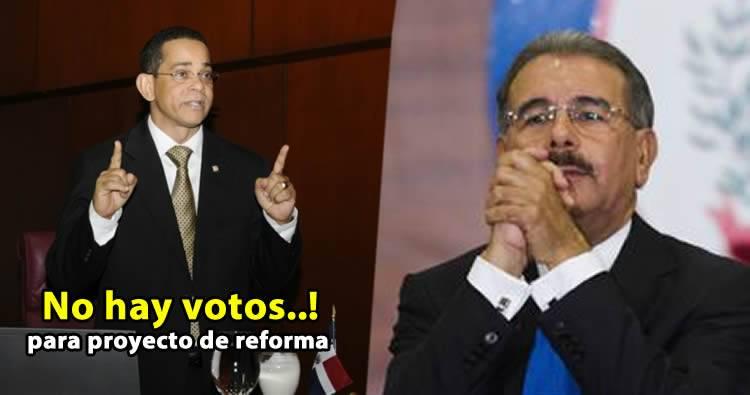 Senador José Rafael Vargas dice 'no hay votos' por eso no se introdujo proyecto de reforma
