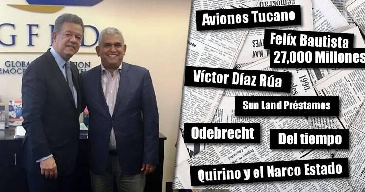 Diputado Juan Carlos Quiñones dice hay una trama contra Leonel Fernández con noticias falsas y negativas