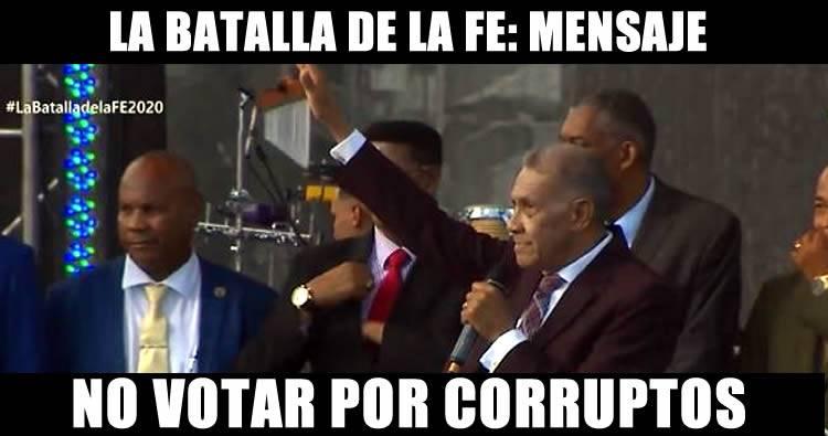 Ezequiel Molina en la batalla de la Fe llama a no votar por corruptos