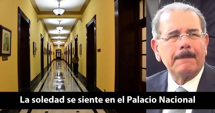 La soledad se siente en el Palacio Nacional