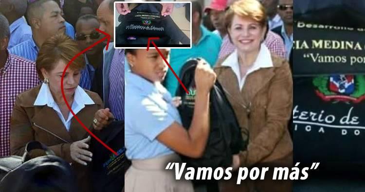 """Descubren """"tigueraje"""" con las mochilas que esta regalando Lucia Medina (Yomaira)"""