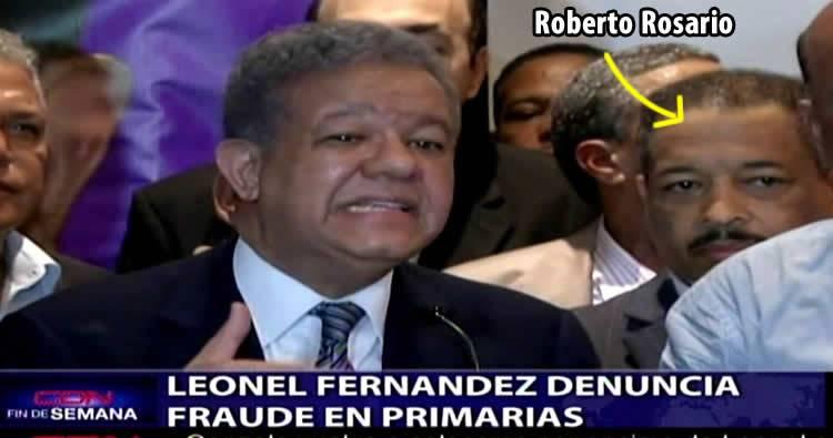 Leonel Fernández denuncia fraude en las primarias
