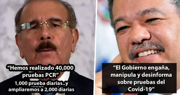 Leonel Fernández cree que Gobierno engaña, manipula y desinforma sobre pruebas del Covid-19