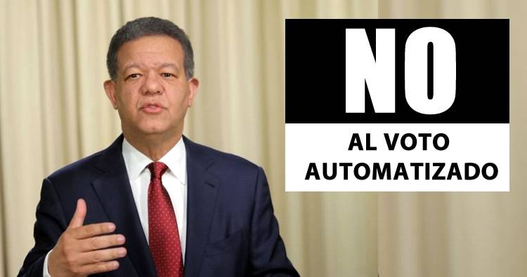 Leonel Fernández expresa su total rechazo al uso voto automatizado