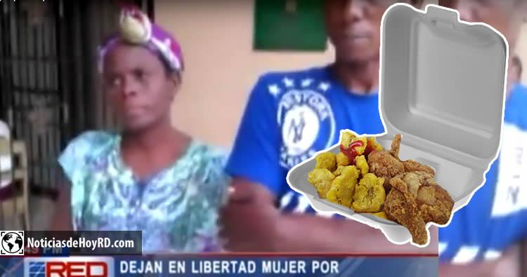 Video: Liberan mujer que estaba presa porque se robó un pica pollo