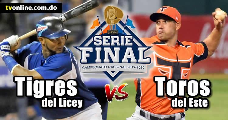 Tigres del Licey vs Toros del Este en vivo | Serie Final 2020