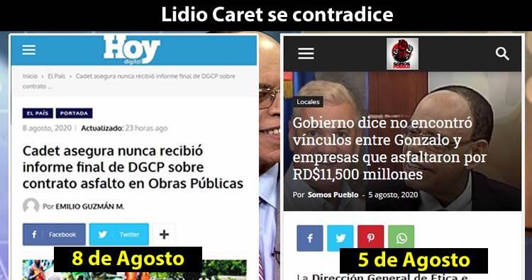 Lidio Cadet dice nunca recibió informe de DGCP sobre asfaltado RD$11,500 millones de Obras Públicas