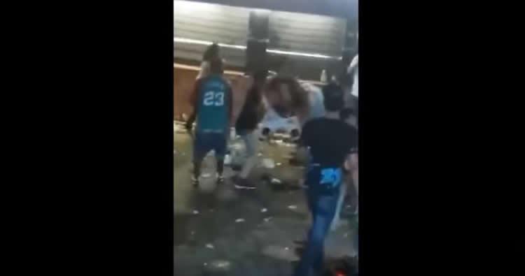 Video: Lío a botellazos y golpes en La Vía Drink de Haina