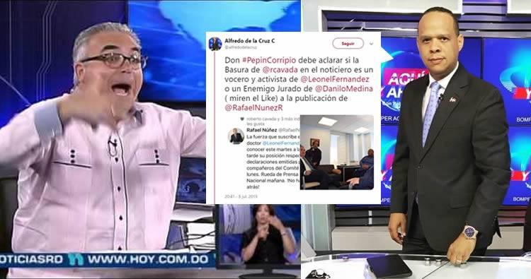 Roberto Cavada estalla en contra de comunicador que cuestionó su objetividad