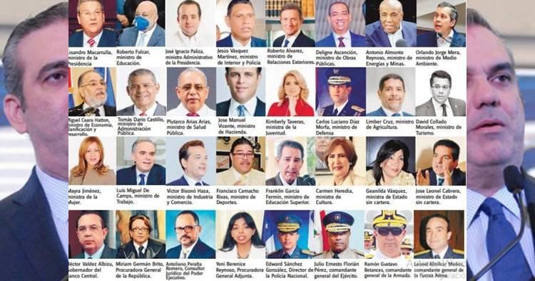 Lista de funcionarios nombrados por Luis Abinader
