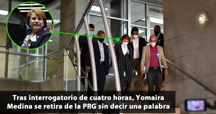 Video: Lucía Medina al salir de la Procuraduría: «No tengo nada que decir»